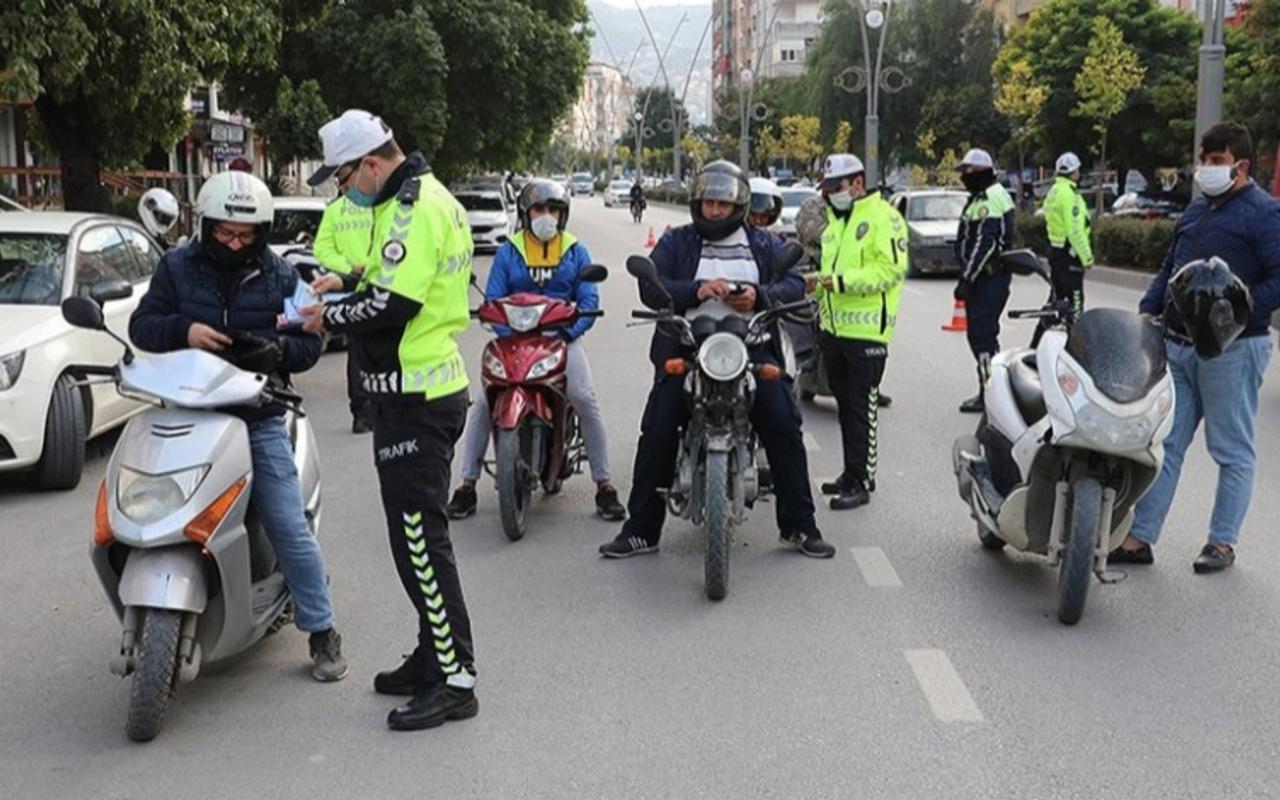 81 ilde eş zamanlı motosiklet ve motorlu bisiklet denetimi gerçekleşti