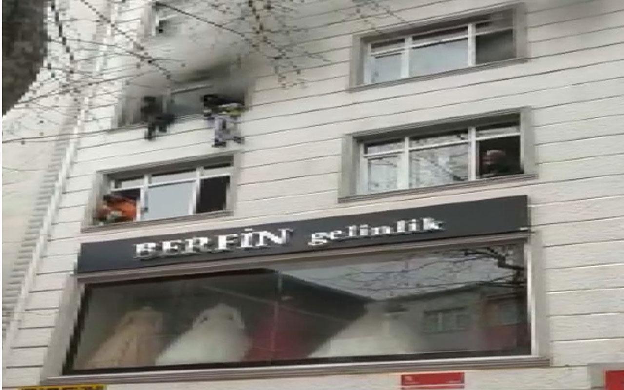 Esenler'de yangında can pazarı küçük çocuk binanın 3. katından aşağı böyle atıldı