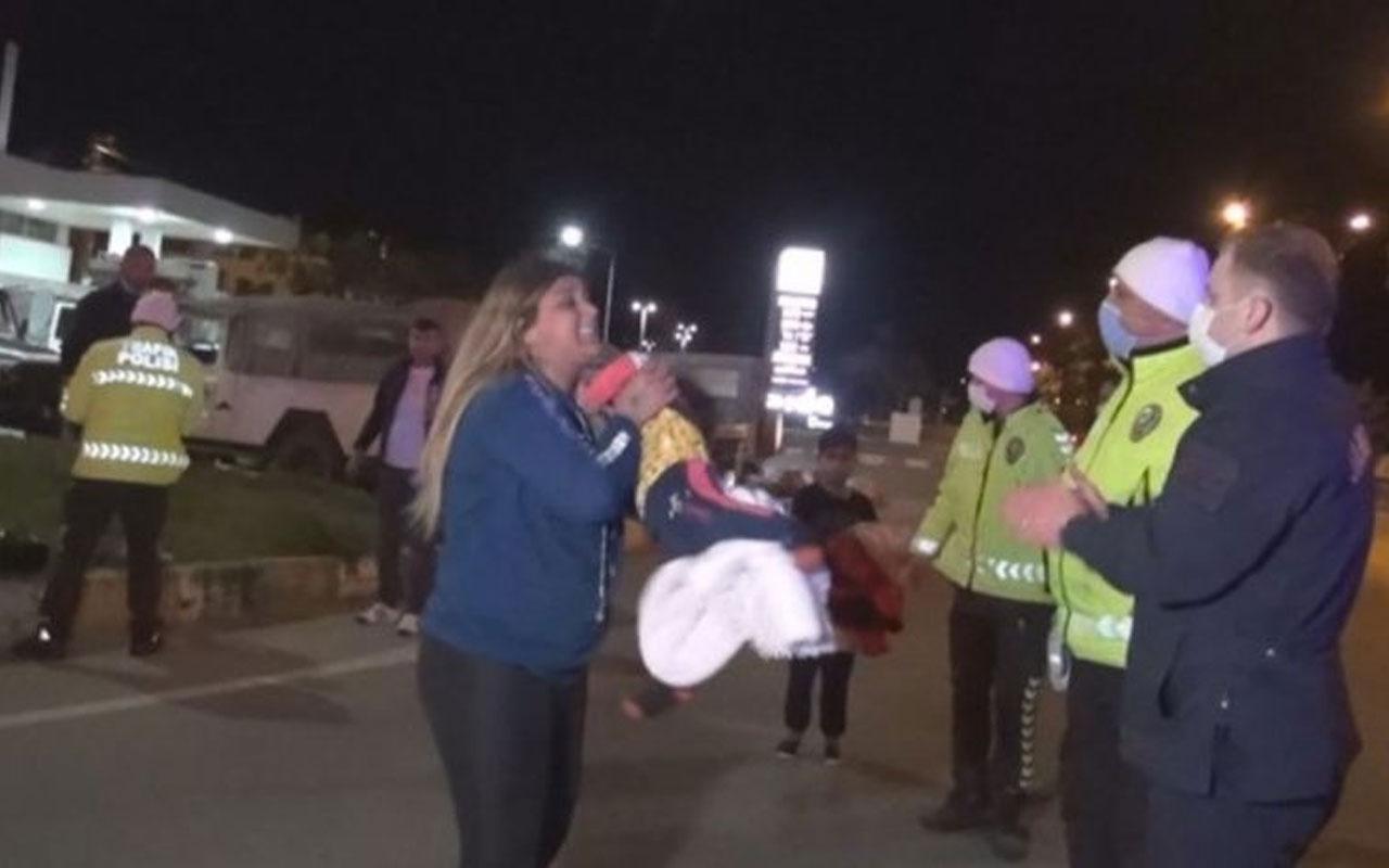Antalya'da kaza yapan anne polisi öyle bir şeyle tehdit etti ki şok olacaksınız