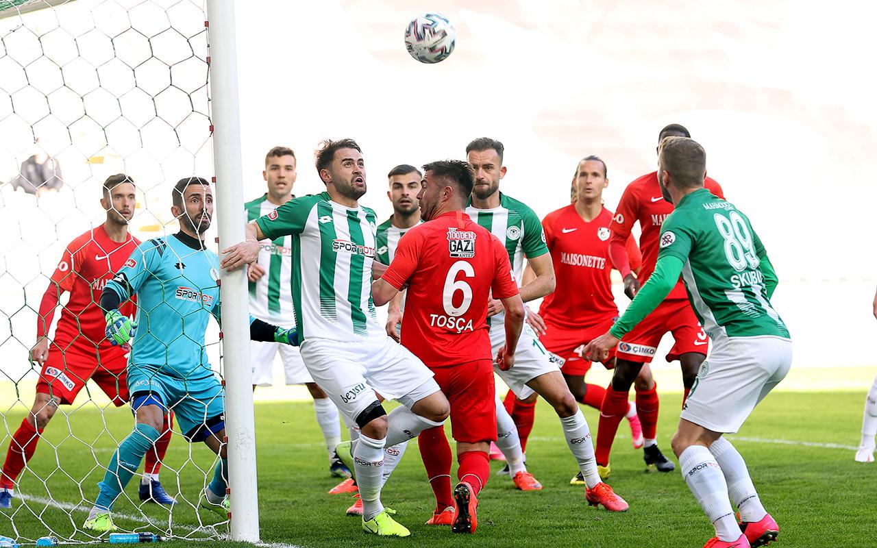 Konyaspor Gaziantep FK maçında gol sesi çıkmadı