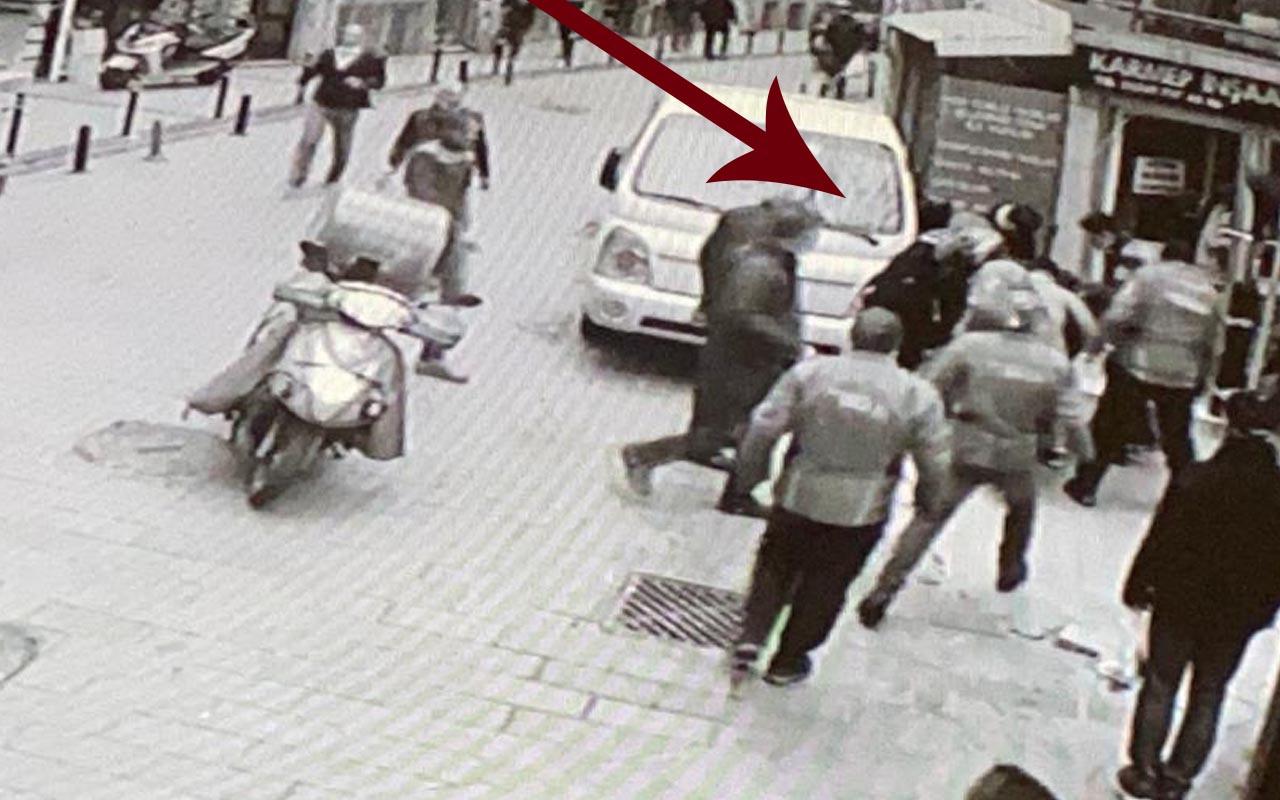 Beşiktaş'ta polisten kaçan şüpheliyi vatandaş yakalayıp teslim etti