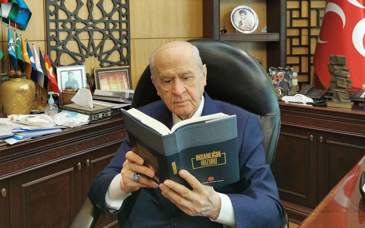 """Devlet Bahçeli, MHP'nin """"İnsanlığın huzuru""""isimli çalışmasını duyurdu"""