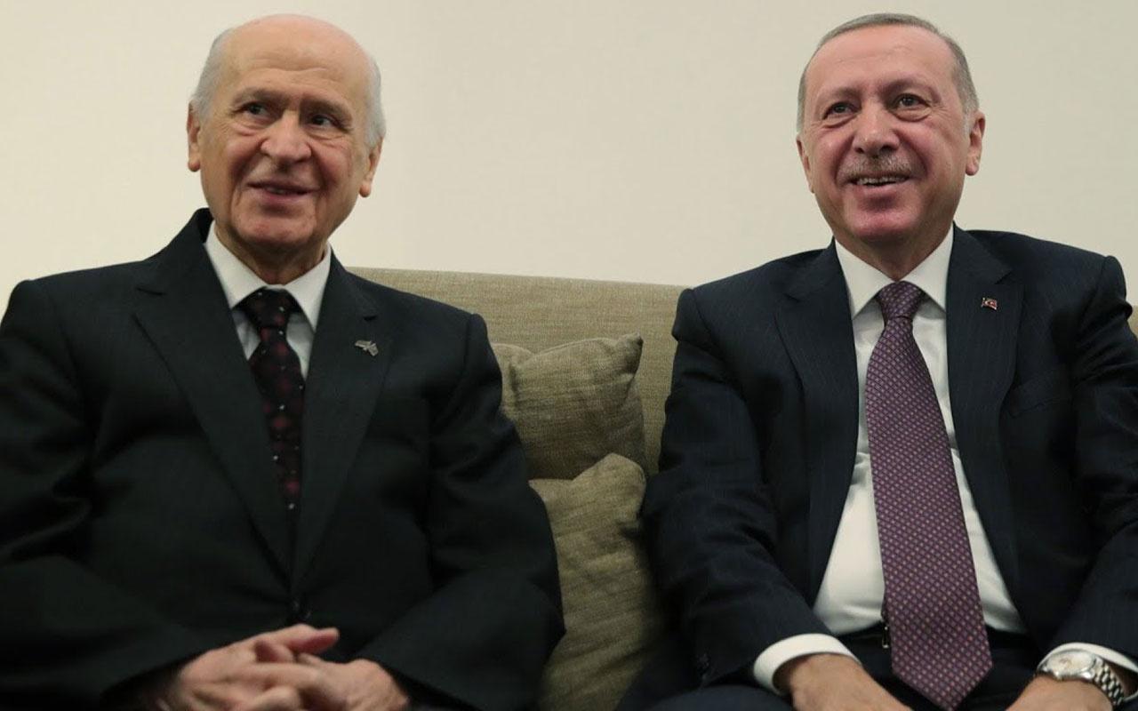 MHP lideri Devlet Bahçeli Cumhurbaşkanı Erdoğan'ın doğum gününü kutladı