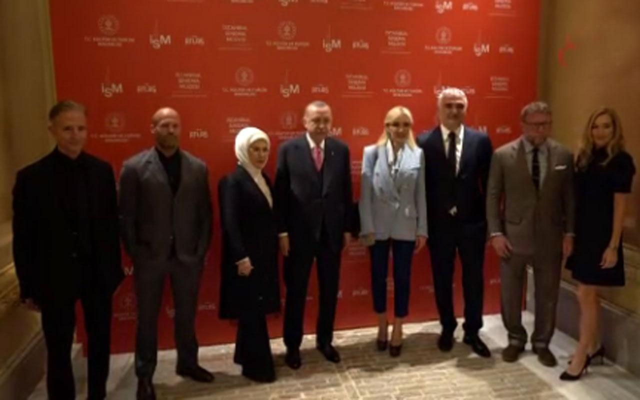 Ünlü yıldız Jason Jason Statham'dan Cumhurbaşkanı Erdoğan'a doğum günü sürprizi