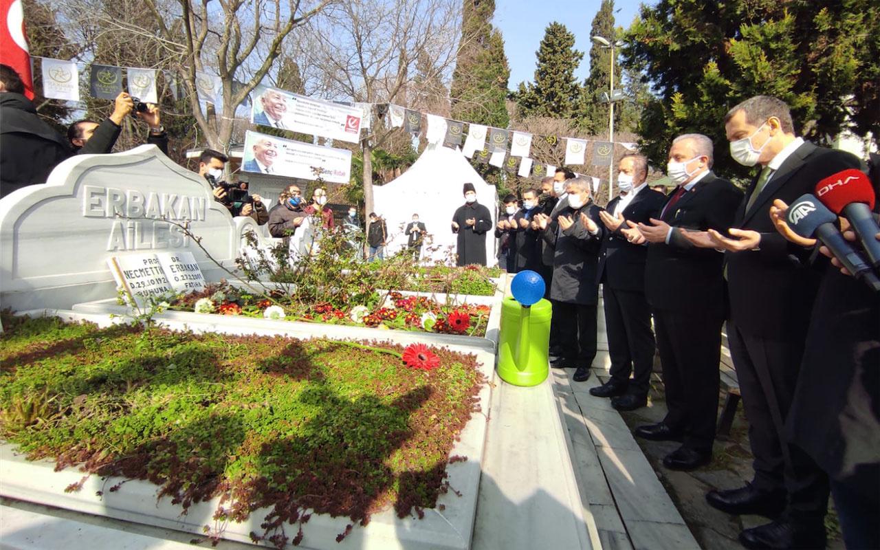 TBMM Başkanı Mustafa Şentop, merhum Başbakan Necmettin Erbakan'ın kabrini ziyaret etti