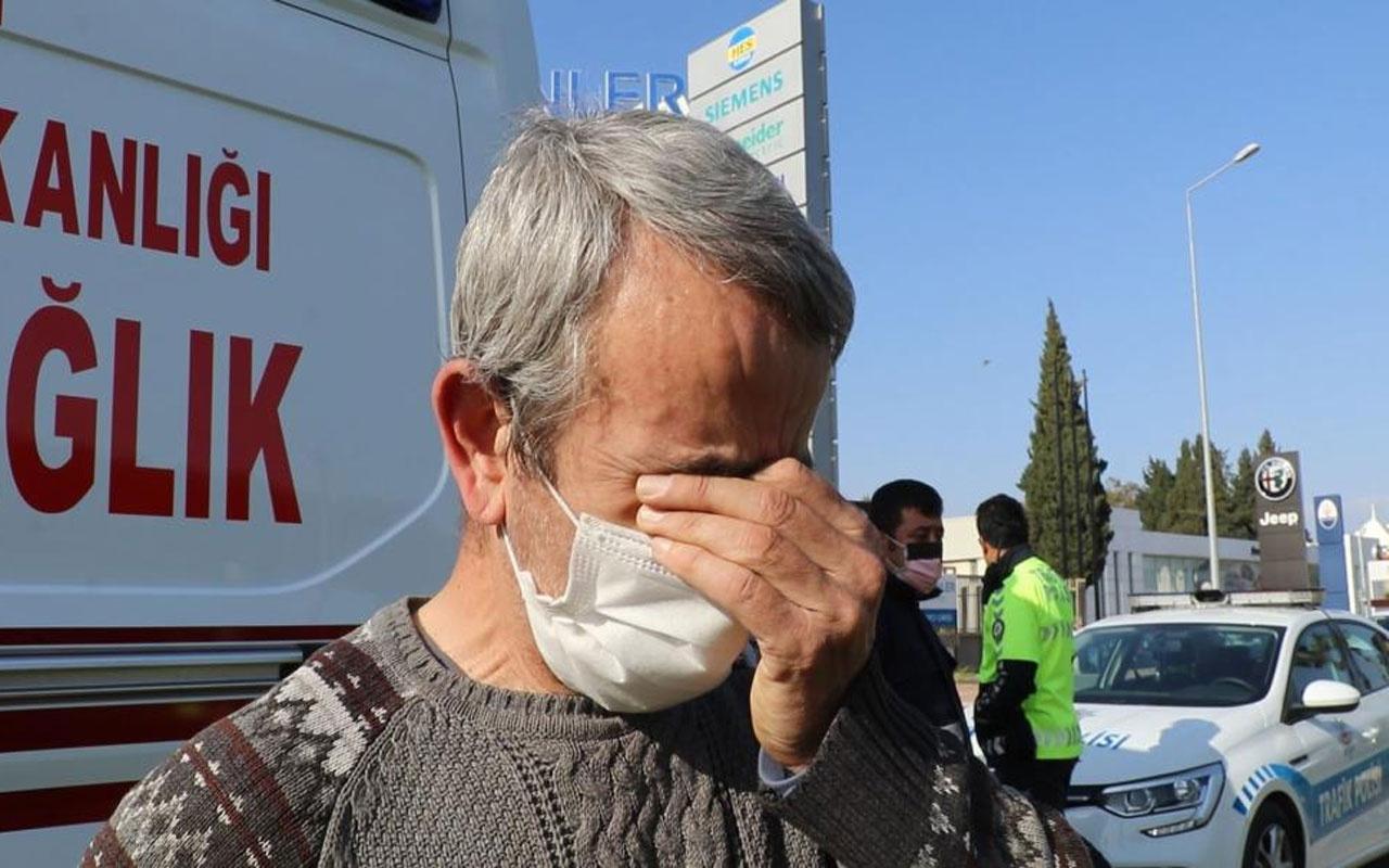 Antalya'da feci kaza! Sürücü gözyaşlarına boğuldu