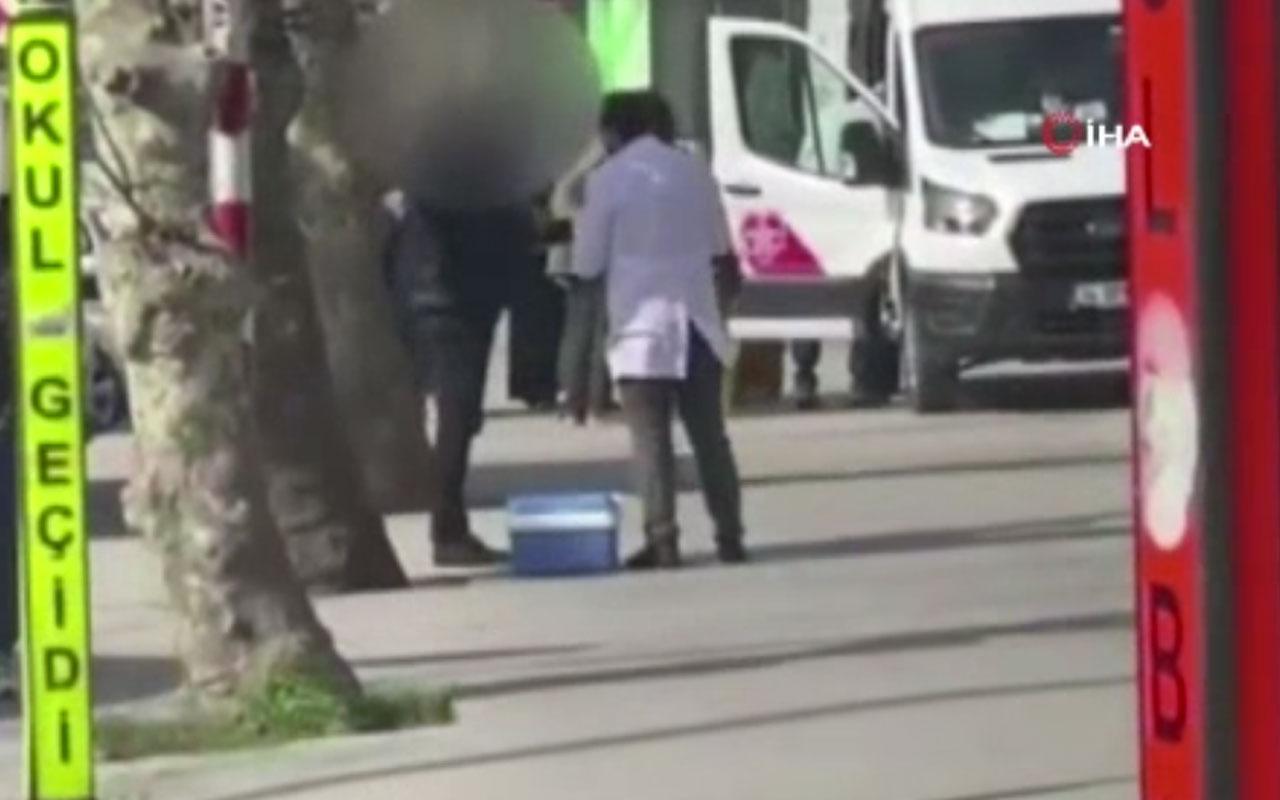 Sahte Covid-19 negatif test sonucu satan şebeke şoke etti! İstanbul'da sokak ortasında muayene...
