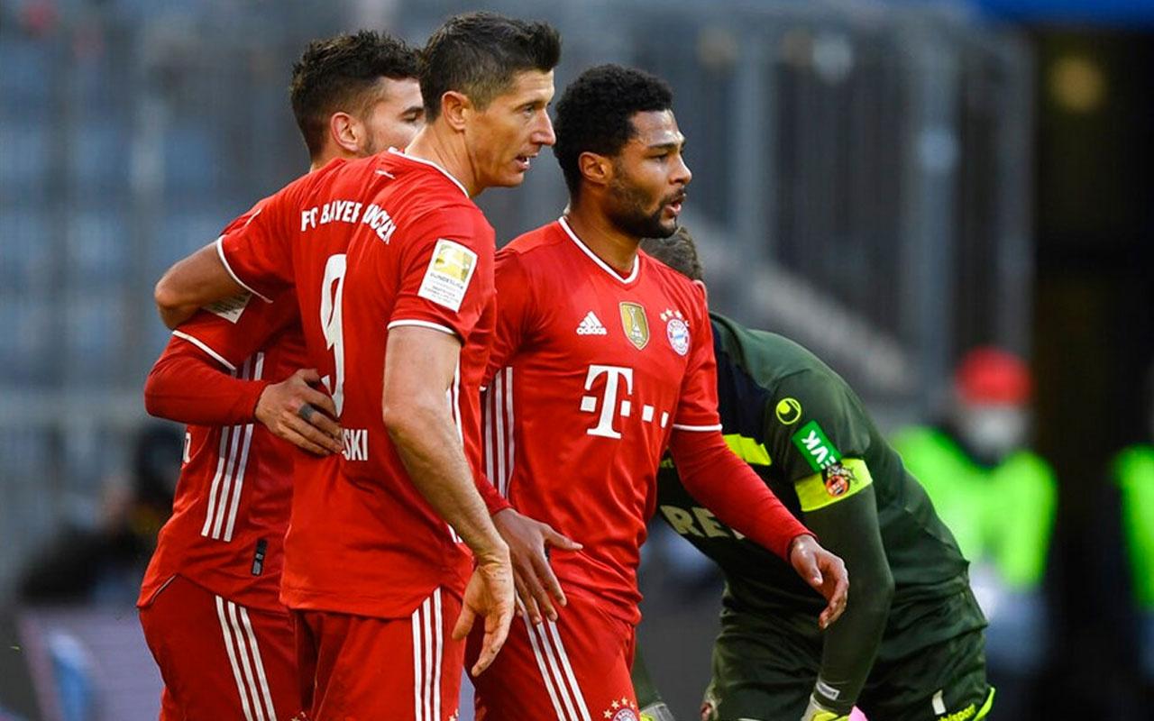 Bayern Münih'in galibiyet, Lewandowski'nin rekor gecesi