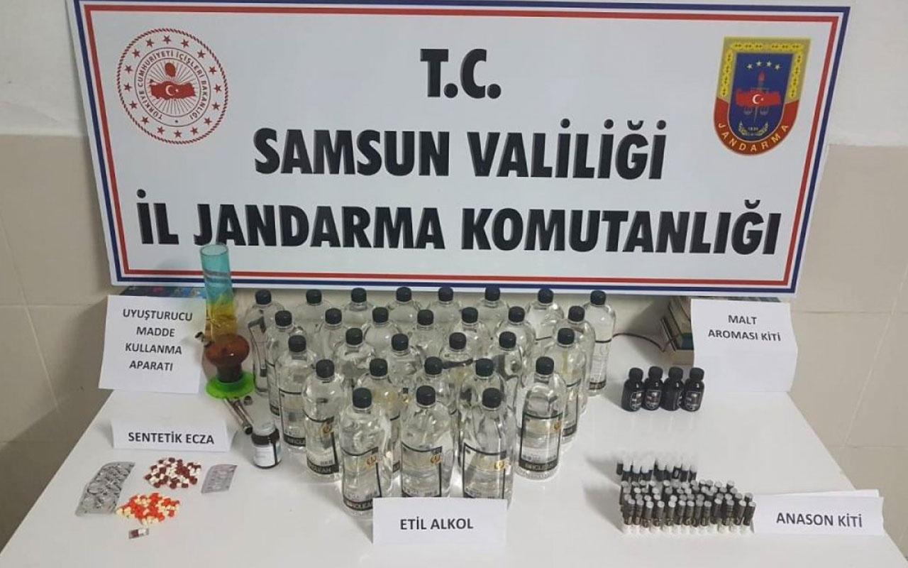 Samsun'da kaçak içki operasyonu