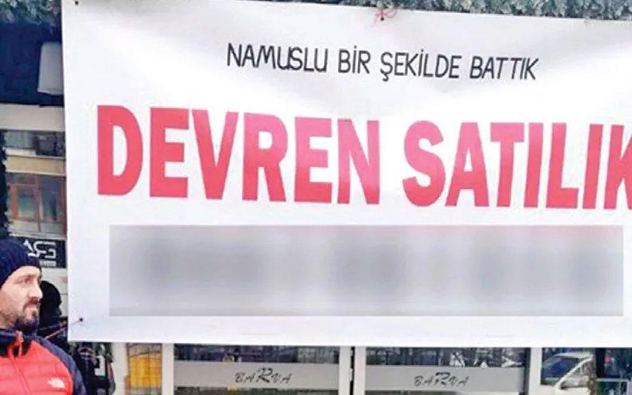 Trabzonlu esnaftan olay pankart! 'Namuslu bir şekilde battık'