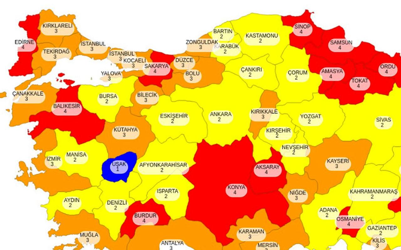 Haftasonu sokağa çıkma yasağının kalktığı iller Türkiye Covid -19 haritasına bakın