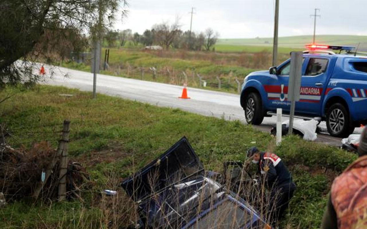 Balıkesir'de feci kaza! Otomobil su kanalına düştü 2 kişi hayatını kaybetti