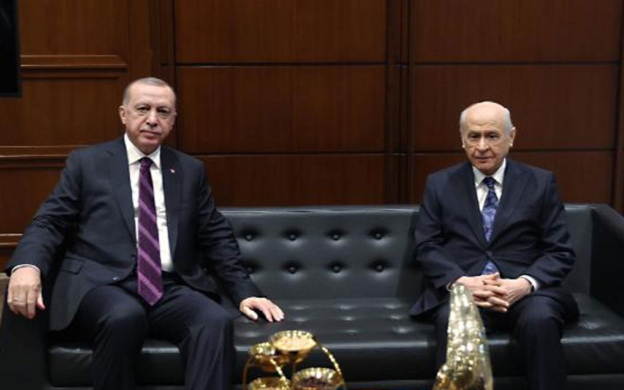 Sürpriz görüşme! Cumhurbaşkanı Erdoğan, Devlet Bahçeli ile bir araya geldi