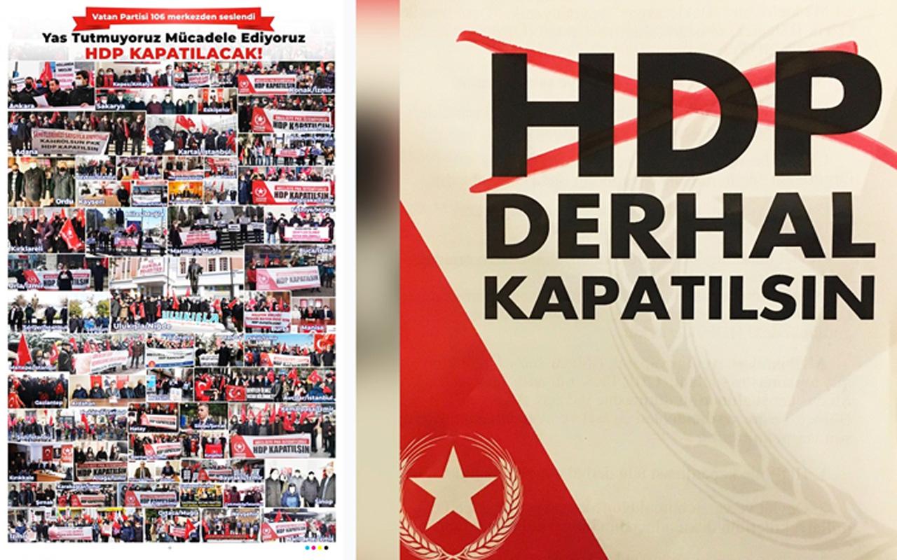 Vatan Partisi'nin 'HDP kapatılsın' kampanyasına sert tepki