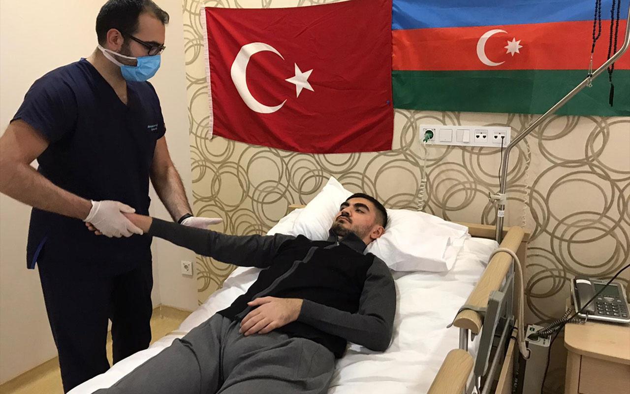 Dağlık Karabağ'daki havan saldırısında yaralanan Azerbaycanlı gazi Kocaeli'de şifa arıyor