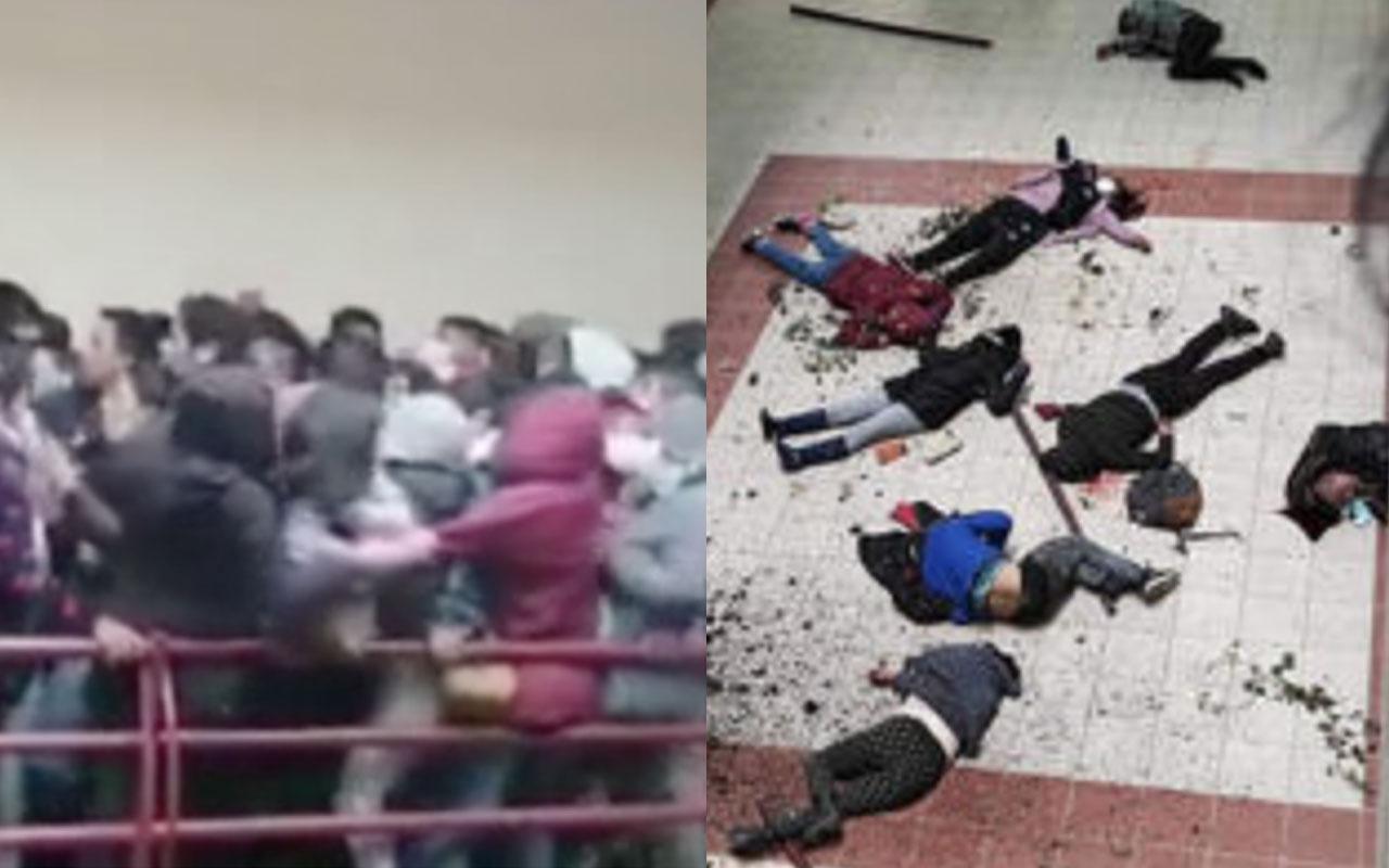 Üniversitede korkunç facia! Korkuluklar kırıldı 8 öğrenci yere çakılarak feci şekilde can verdi