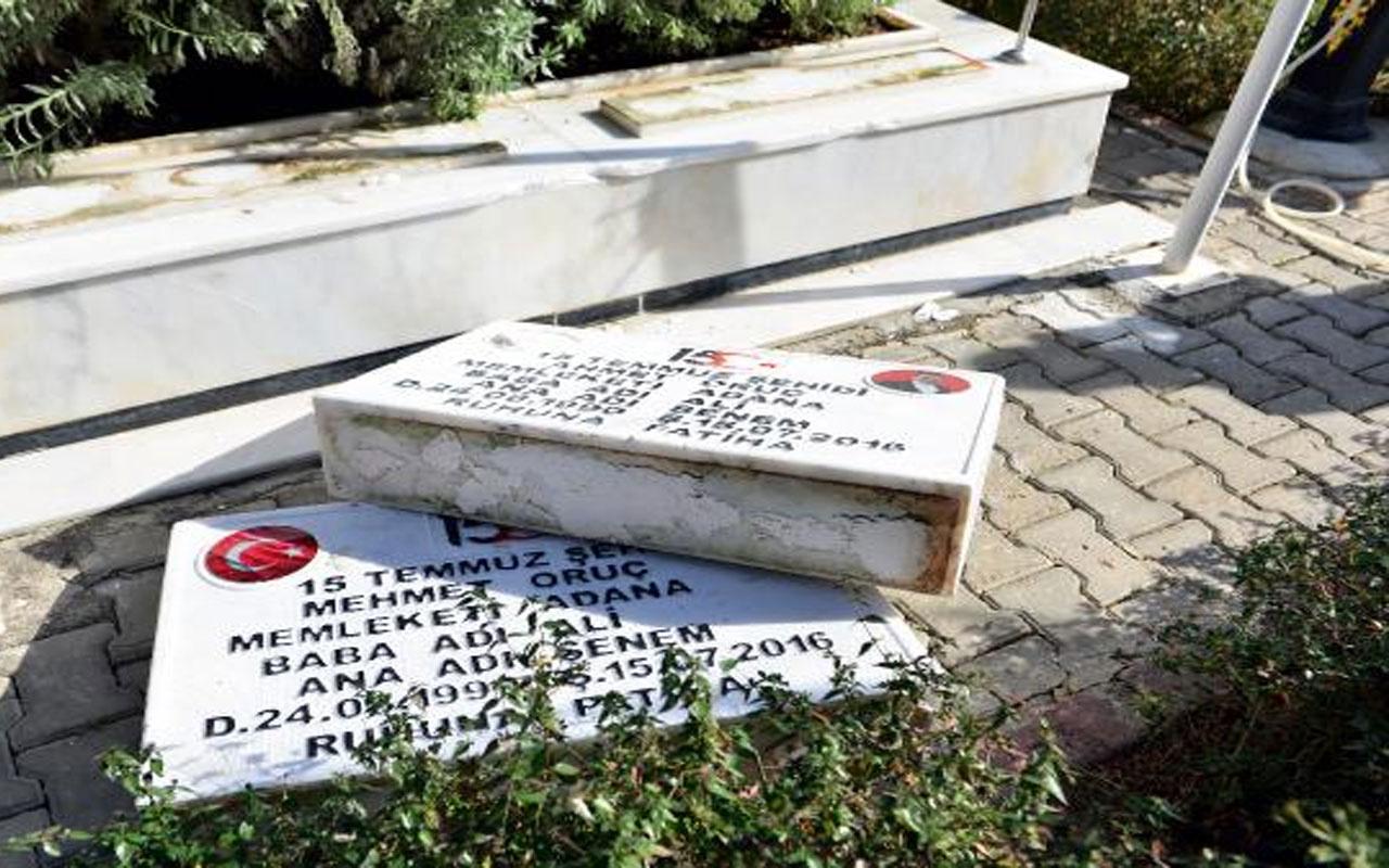 Şehit polislerin mezarlarını DEAŞ'ın sözde Türkiye emirinin oğlu ve yeğeni tahrip etmiş