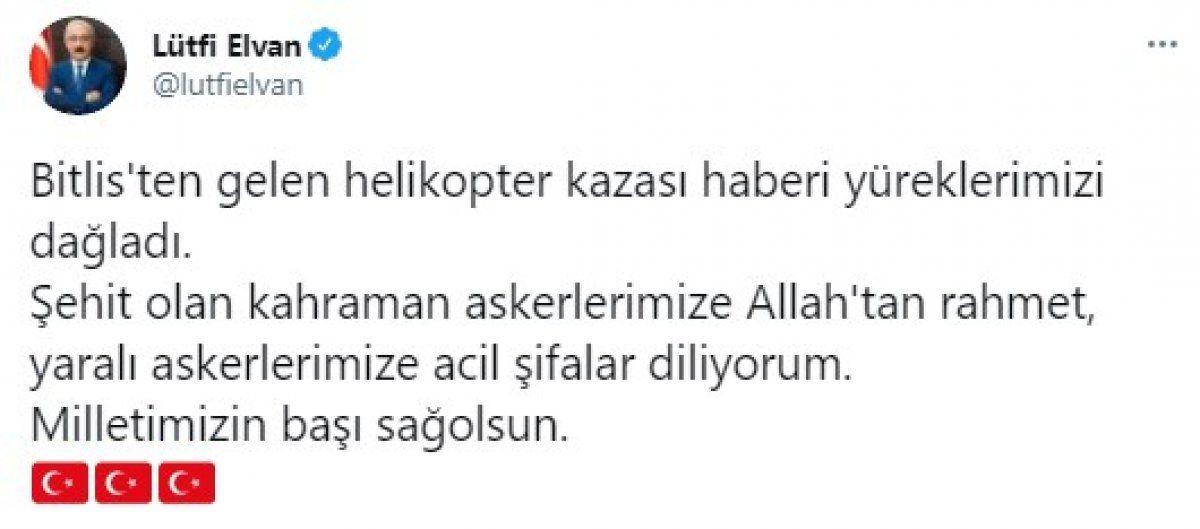 Türkiye şehitlerine ağlıyor! 11 şehidimiz için siyasilerden başsağlığı mesajları geldi
