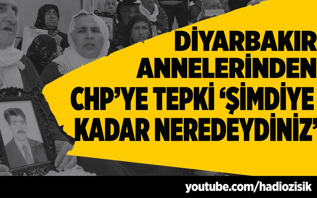 Diyarbakır Anneleri'nden CHP'ye tepki 'Şimdiye kadar neredeydiniz'