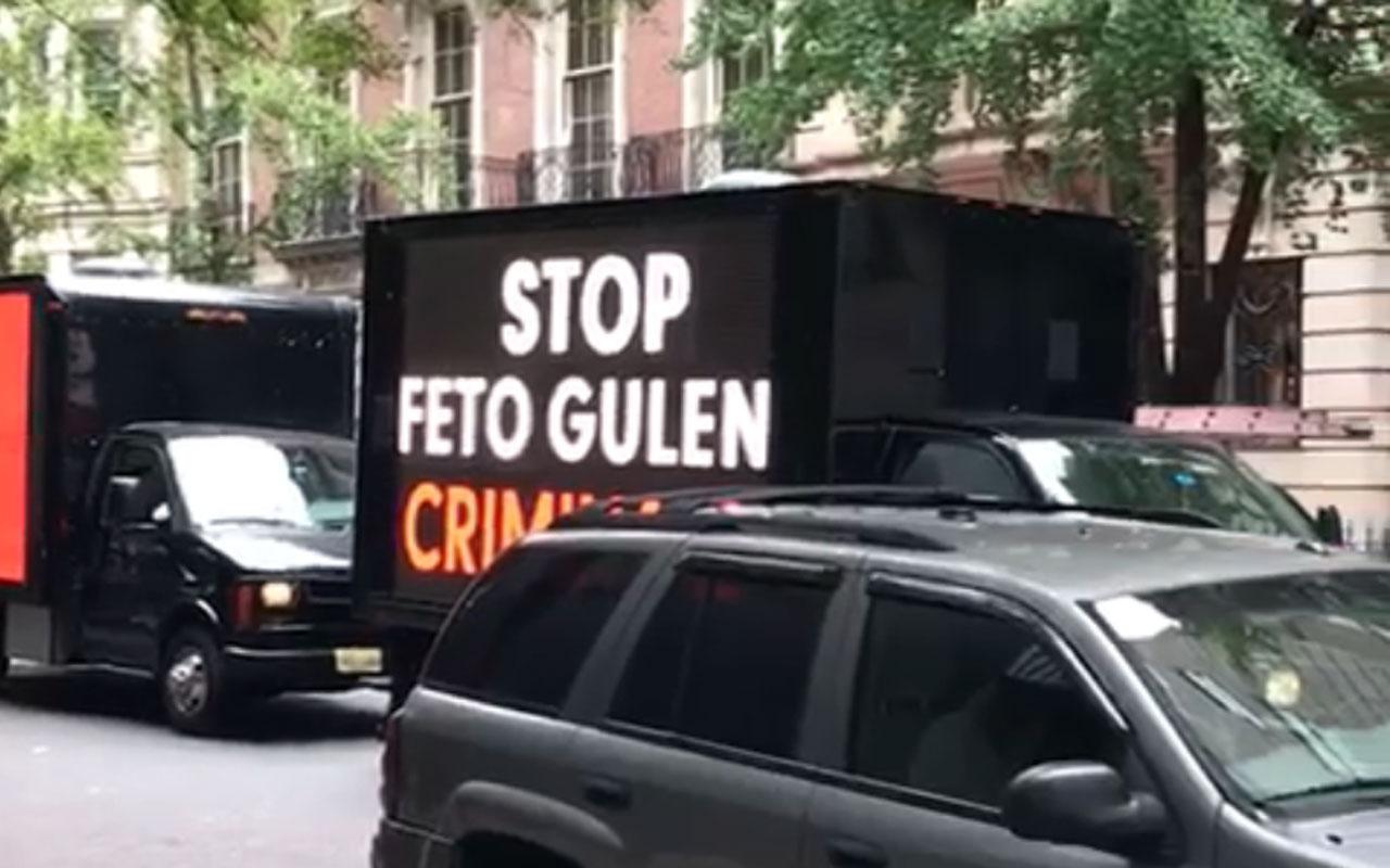 FETÖ'cülerin 'Stop Erdoğan' ilanına ABD'li Türklerden tepki