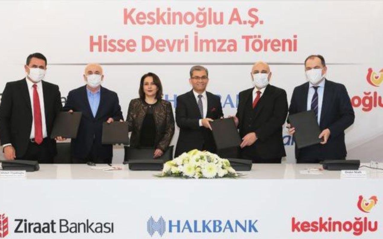 Ziraat Bankası ve Halkbank'tan Keskinoğlu'nda hisse devri!