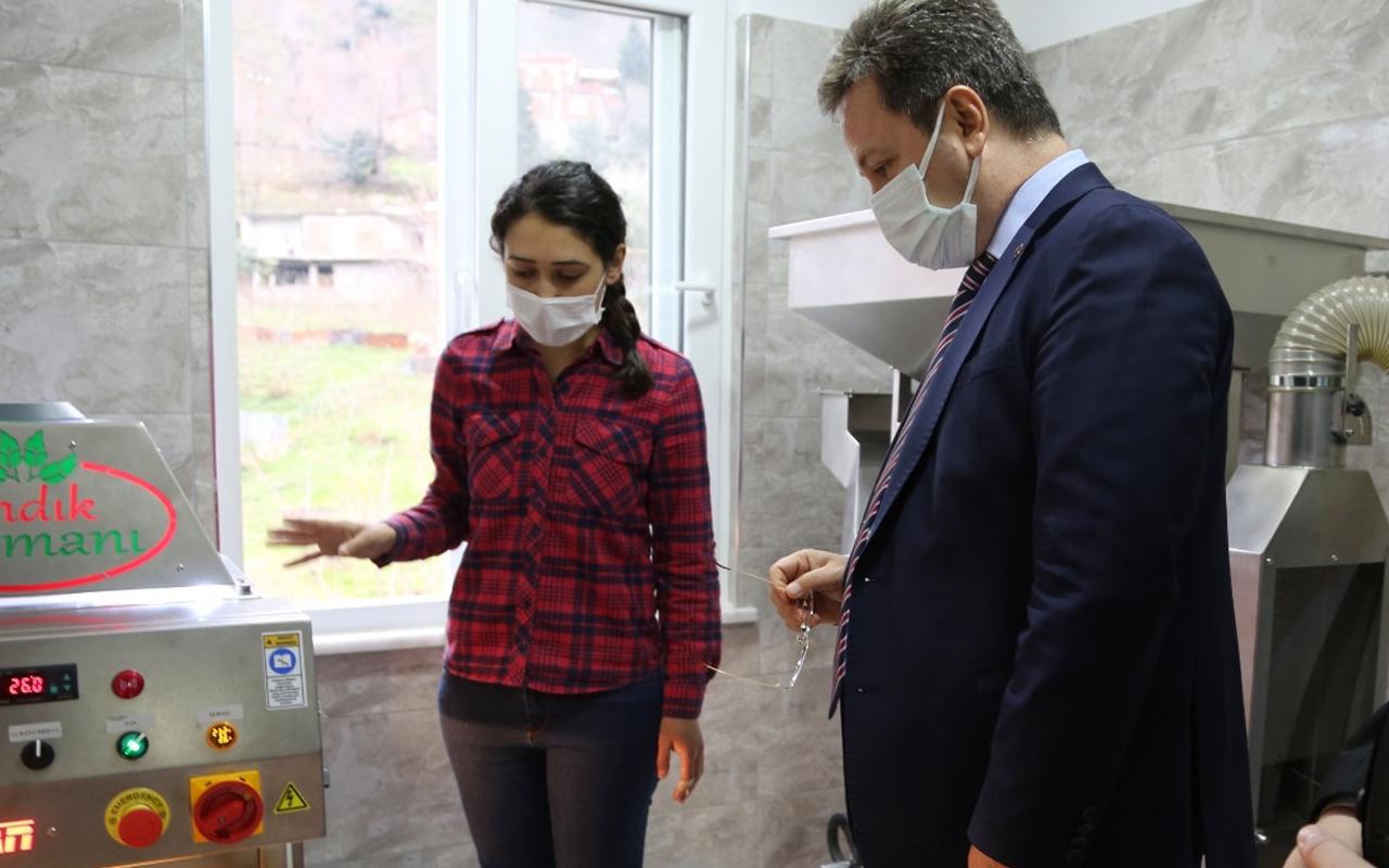 Giresun'da evinin çatısında ticarete atıldı! Genç kadın girişimci o sözü şiar edindi