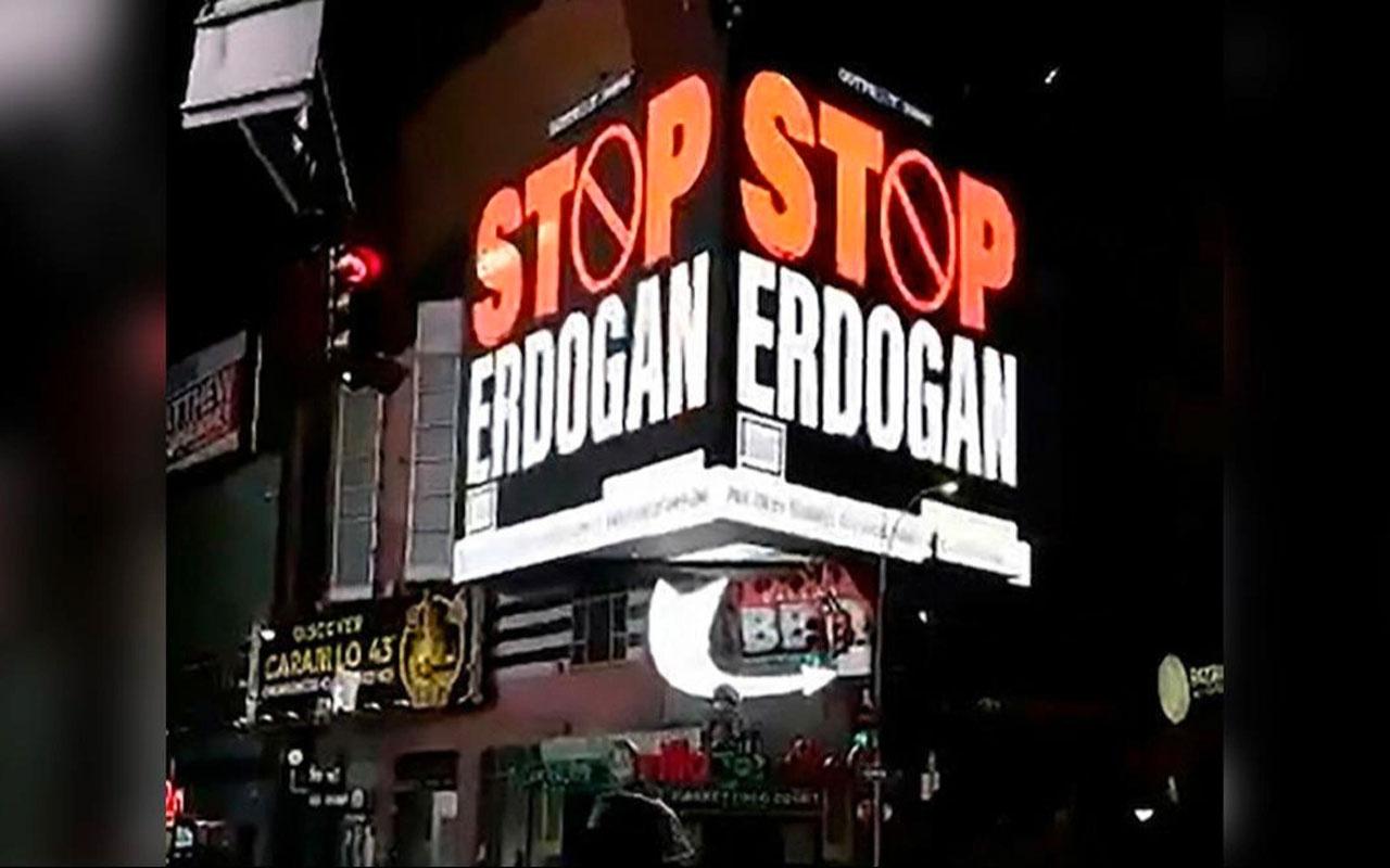 FETÖ'den New York'ta 'Stop Erdoğan' ilanı!