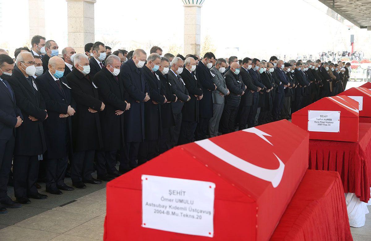 Bitlis şehitleri için Ankara'da devlet töreni! Korgeneral Osman Erbaş ve 10 askere son veda