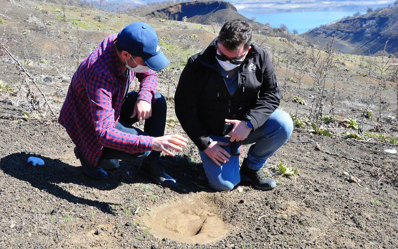 Yeri gizli tutuluyor! Manisa'da ortaya çıktı bu ayak izleri 5 bin yıllık