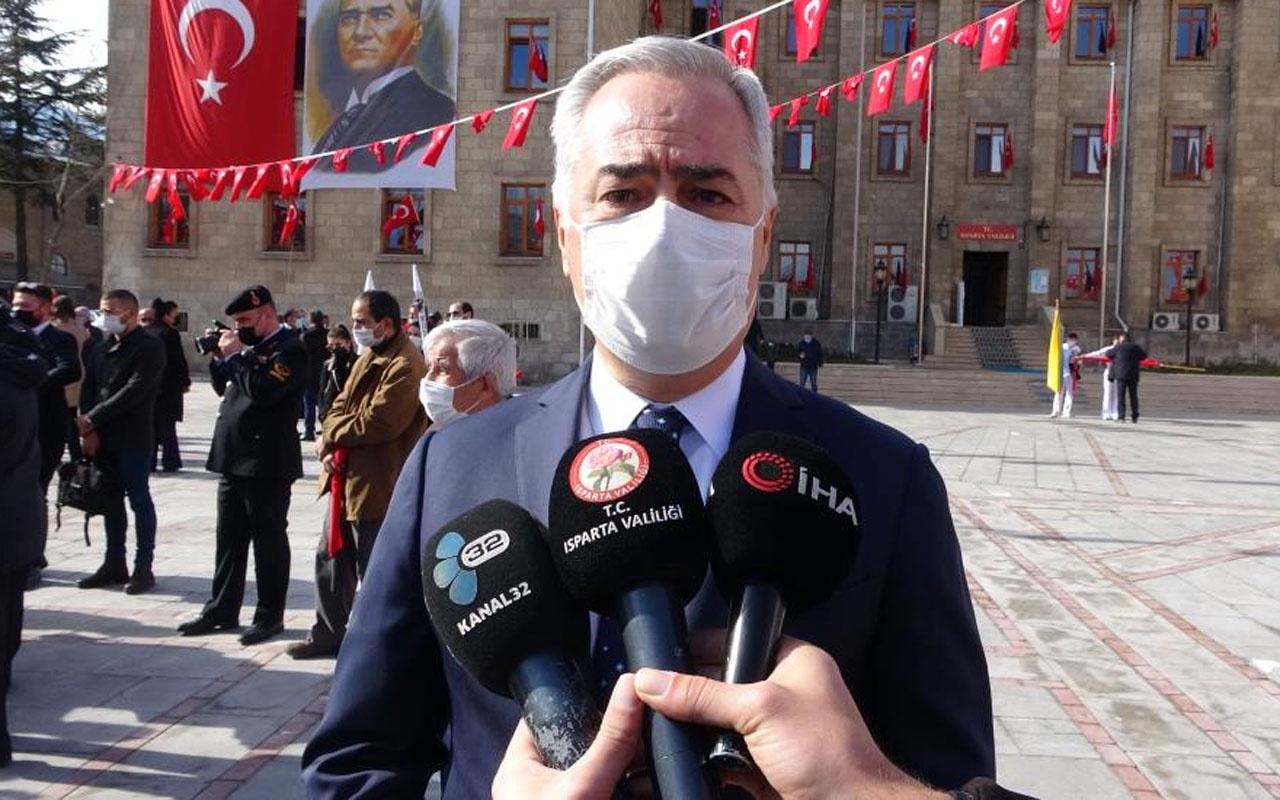 Isparta Valisi Ömer Seymenoğlu'ndan vaka sayısı açıklaması
