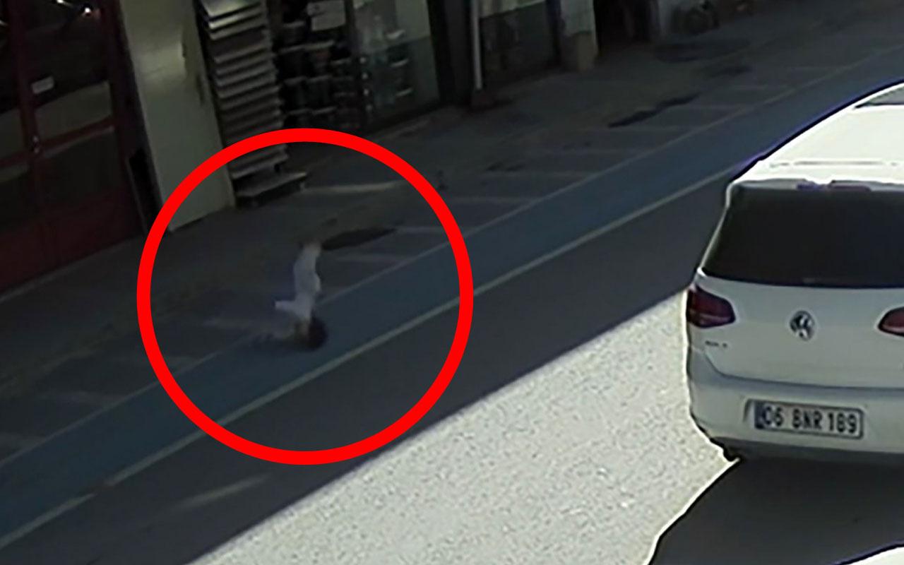 Sakarya'da 3 yaşındaki çocuk dördüncü kattan yere böyle çakıldı