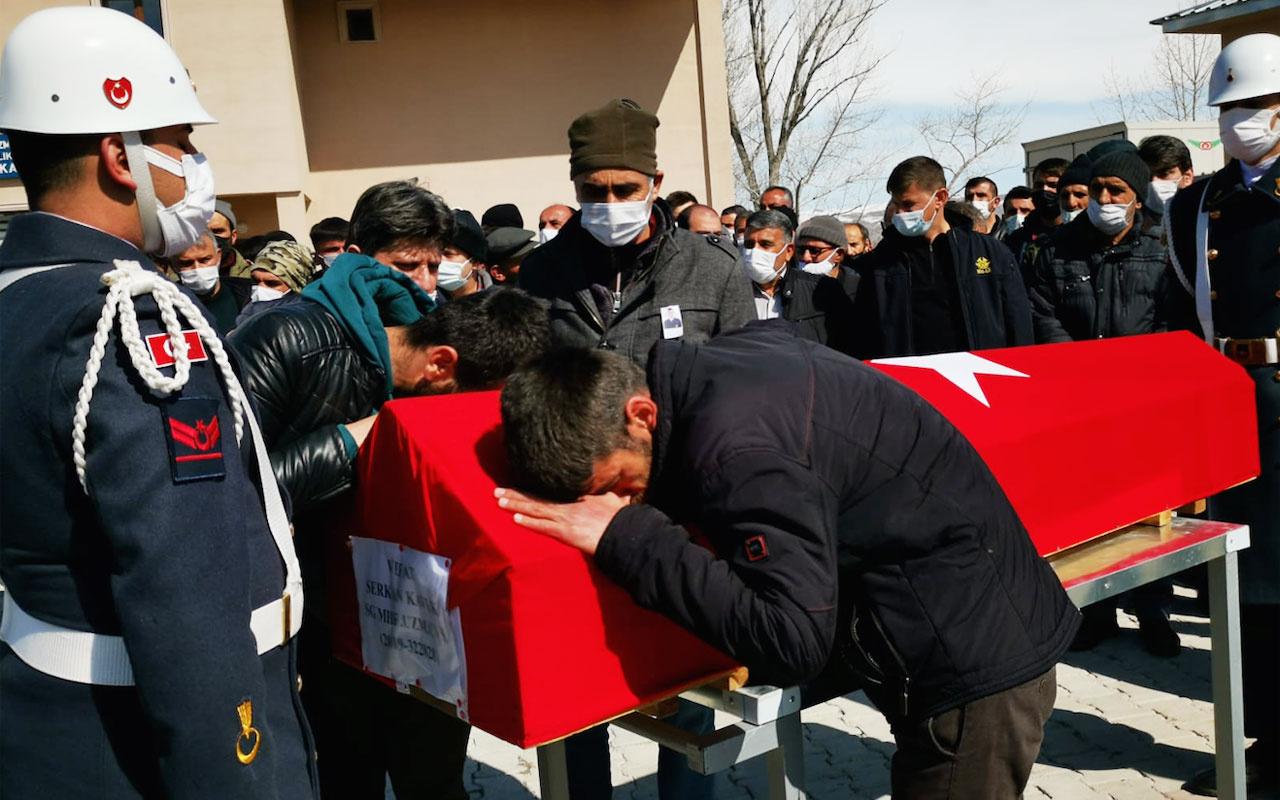Kaza şehidi uzman çavuş, Erzurum'da toprağa verildi