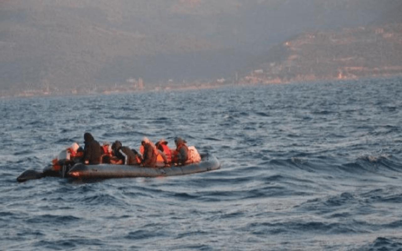 Yunanistan'ın Türk kara sularına ittiği 69 düzensiz göçmen kurtarıldı