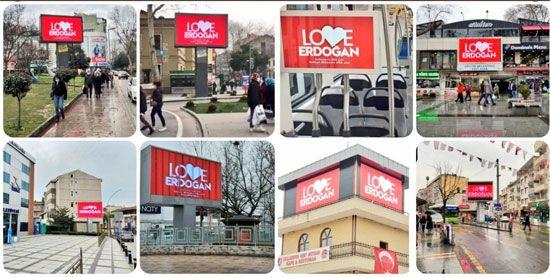 FETÖ'ye inat tüm Türkiye'de Love Erdoğan ilanları