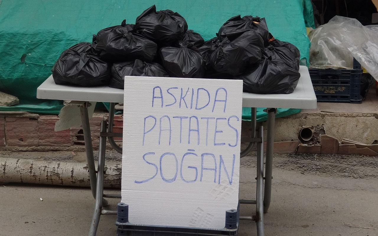 'Askıda Ekmek' kampanyasından sonra bu da askıda 'patates-soğan' kampanyası