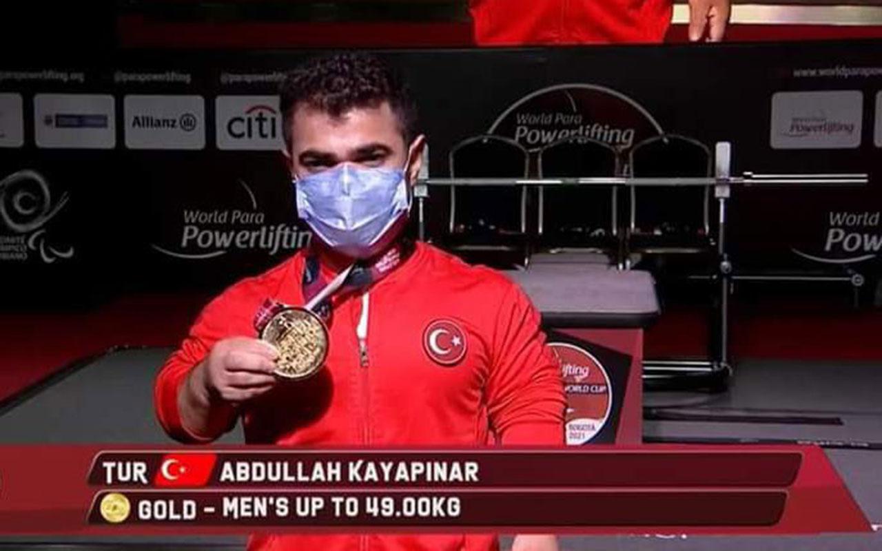 Sivaslı 'Minik Herkül' Abdullah Kayapınar dünya şampiyonu oldu!