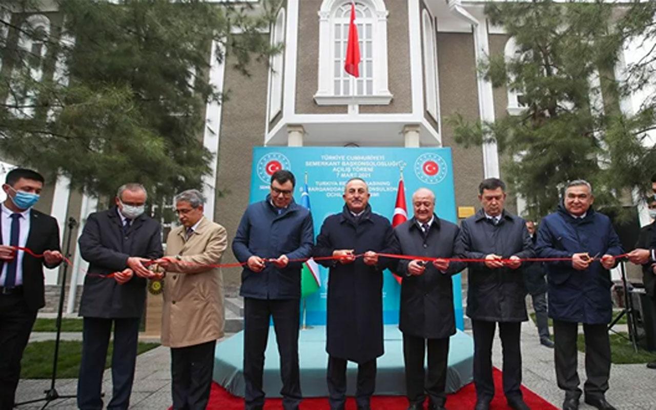 Çavuşoğlu, Türkiye'nin Semerkant Başkonsolosluğu'nun açılışını yaptı