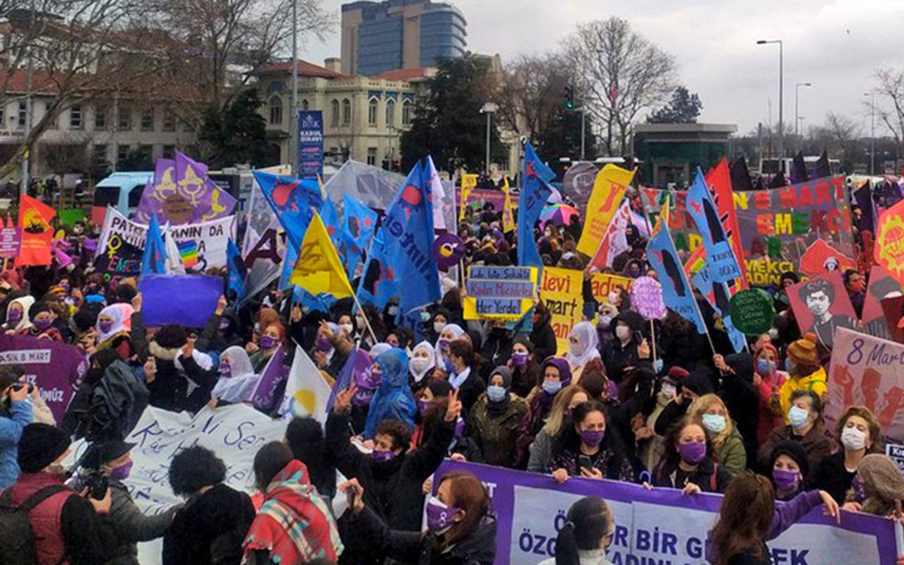 Kadıköy'de 8 Mart mitingi! Gözaltına alınan 9 kişiye tutuklama talebi