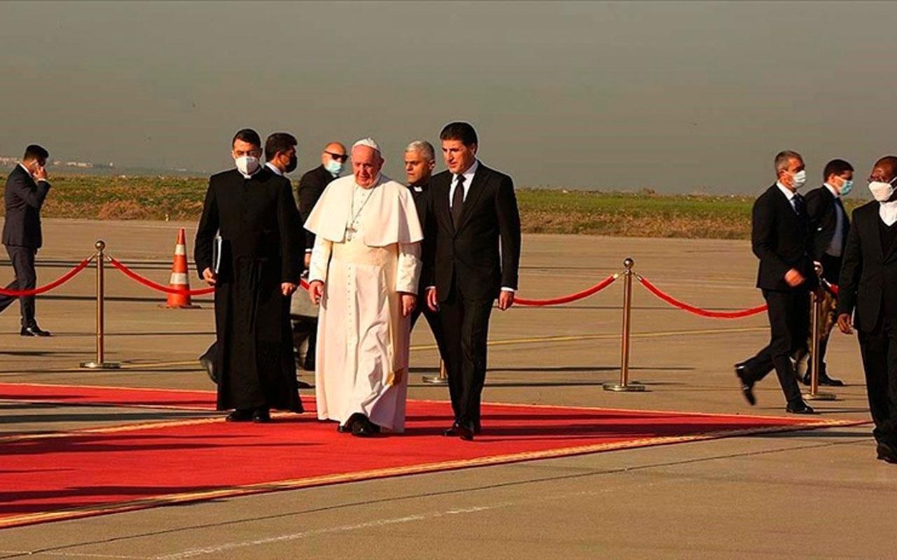 Papa Francis, Irak ziyaretini sürdürüyor! Şimdi de Erbil'de
