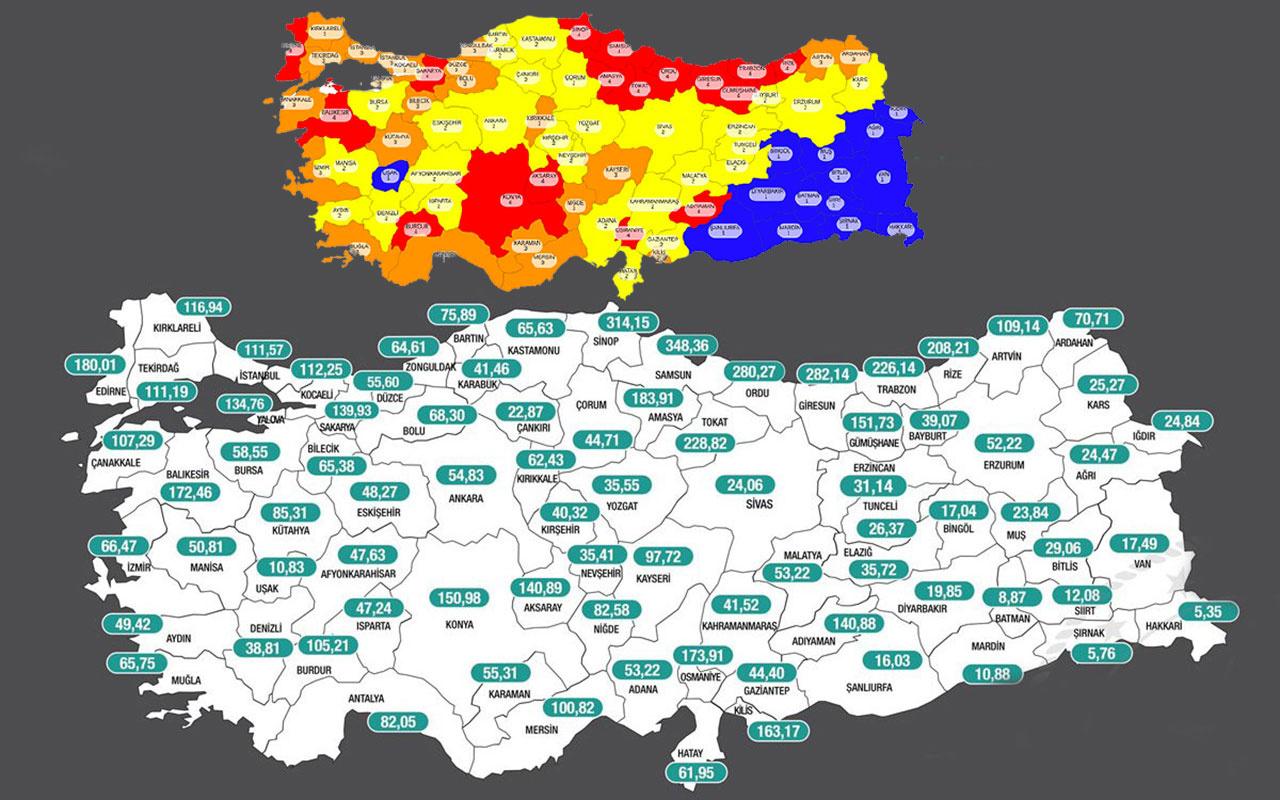 Korkutan harita! 'Kırmızı' illerin sayısı 17'den 26'ya yükseldi seyahat yasağı kapıda