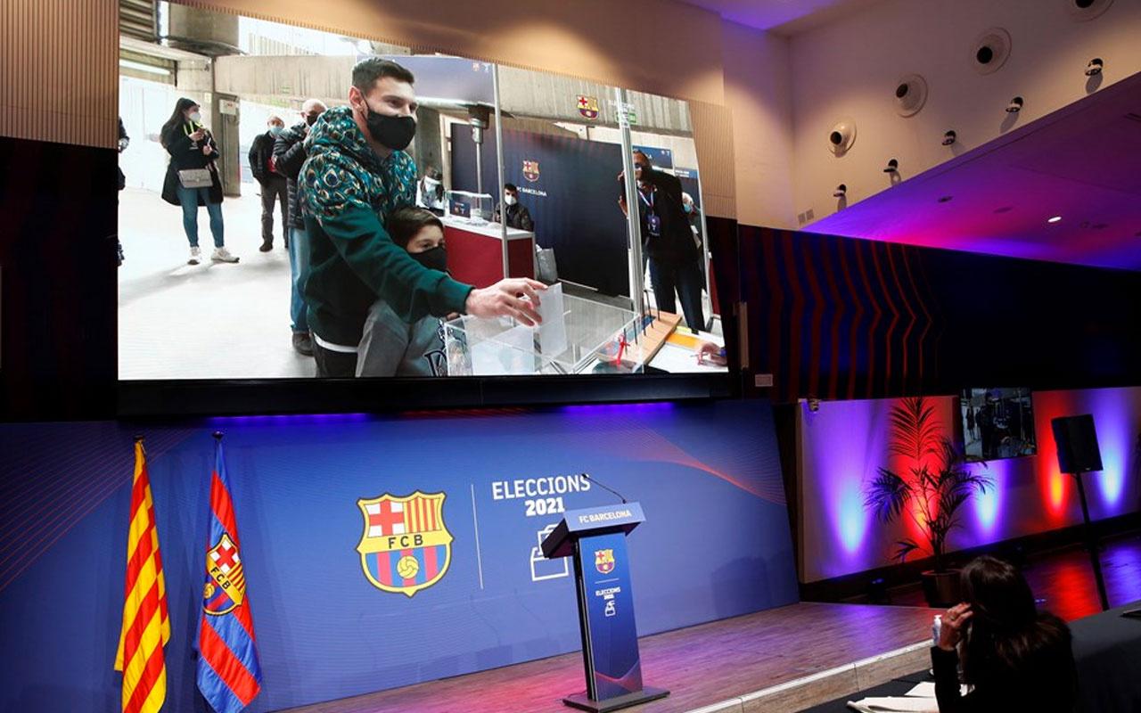 Messi ilk kez oy kullandı Barcelona'da ikinci Joan Laporta dönemi başladı