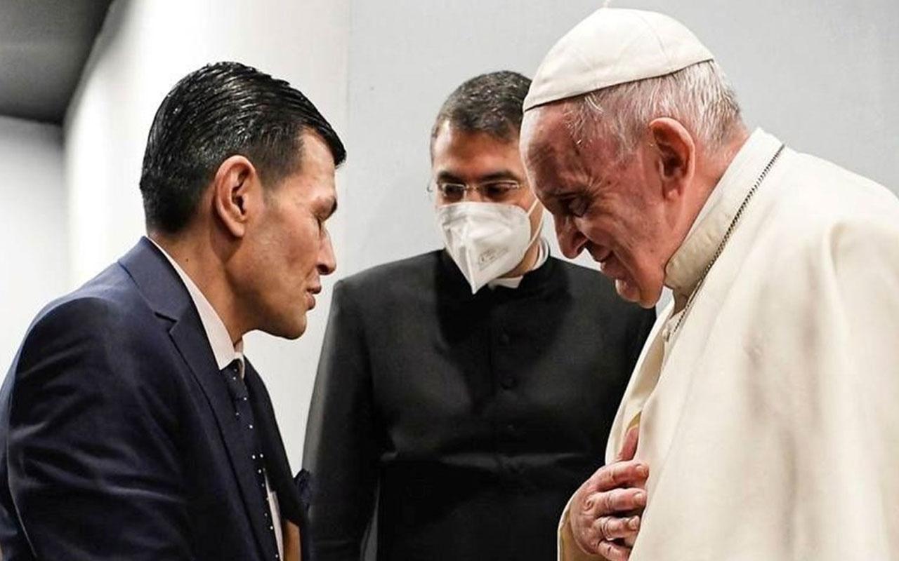 Papa, Erbil'de Aylan bebeğin babasıyla bir araya geldi