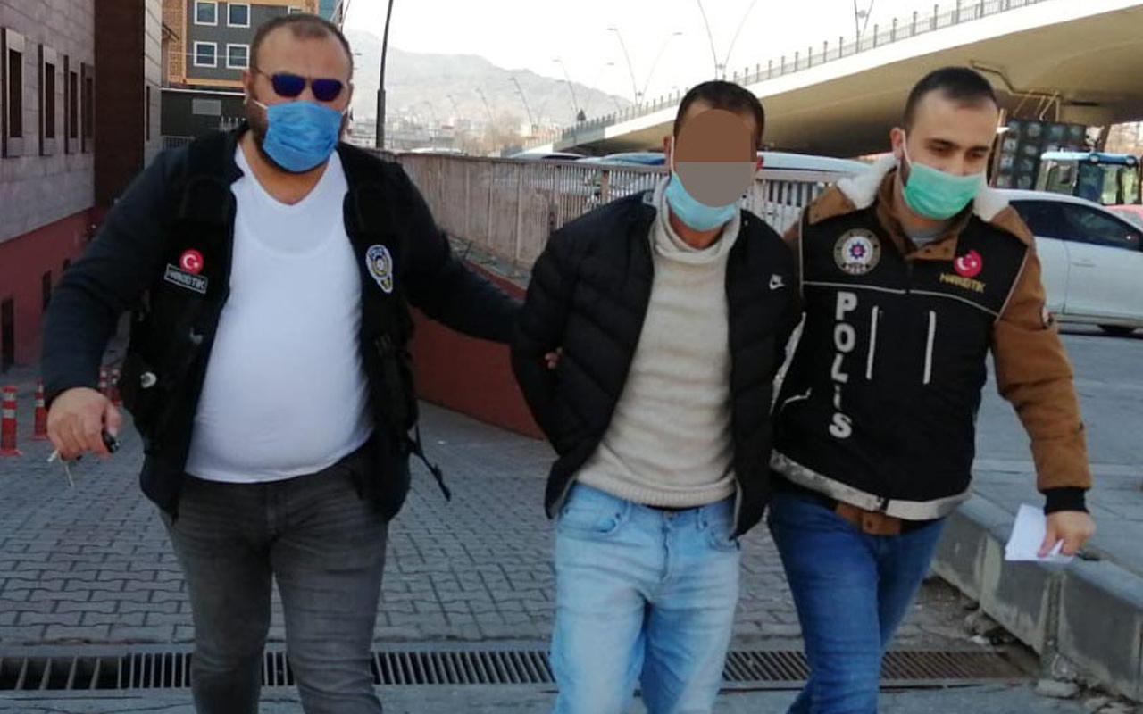 Kayseri'de otobüste yakalandı! Cips paketinden bakın ne çıktı