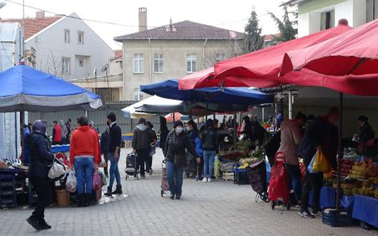 Durum vahim! Keşan'da vakalar patladı halk pazarı süresiz kapatıldı