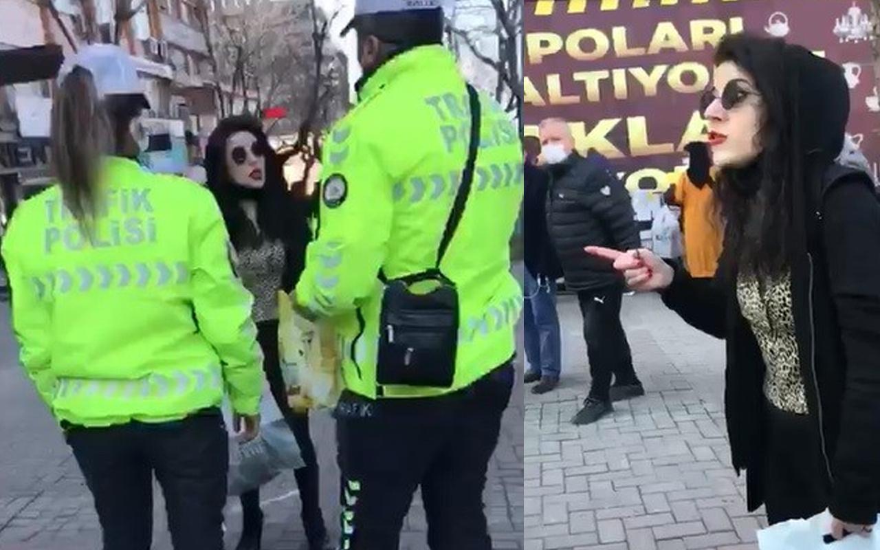 Maskeyi de polisi de takmadı! Bursa'da genç kadın ortalığı birbirine kattı