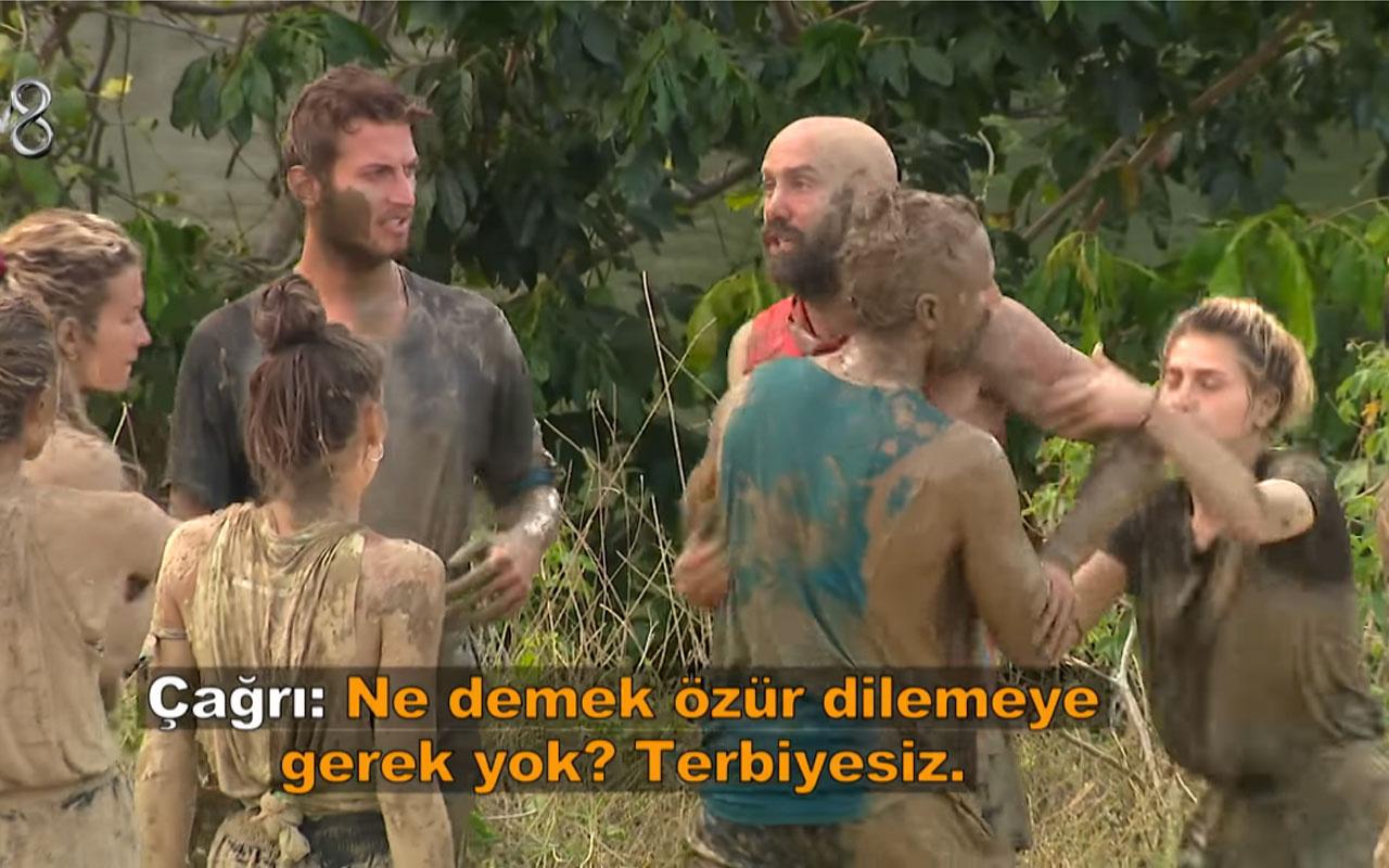 Çağrı Atakan Survivor sunucusu Murat Ceylan'ın üzerine yürüdü Acun Ilıcalı resti çekti