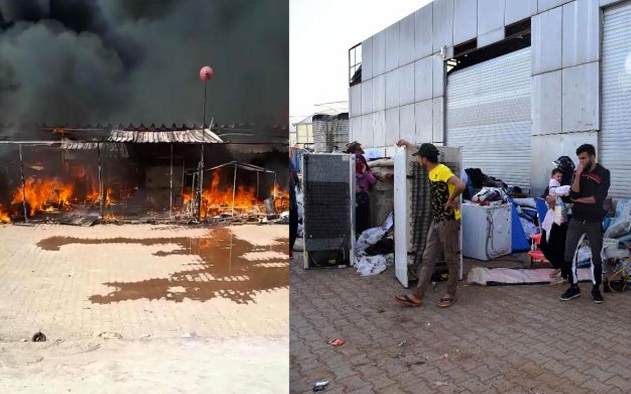 Antalya'da Suriyeli işçilerin kaldığı 7 baraka cayır cayır yandı