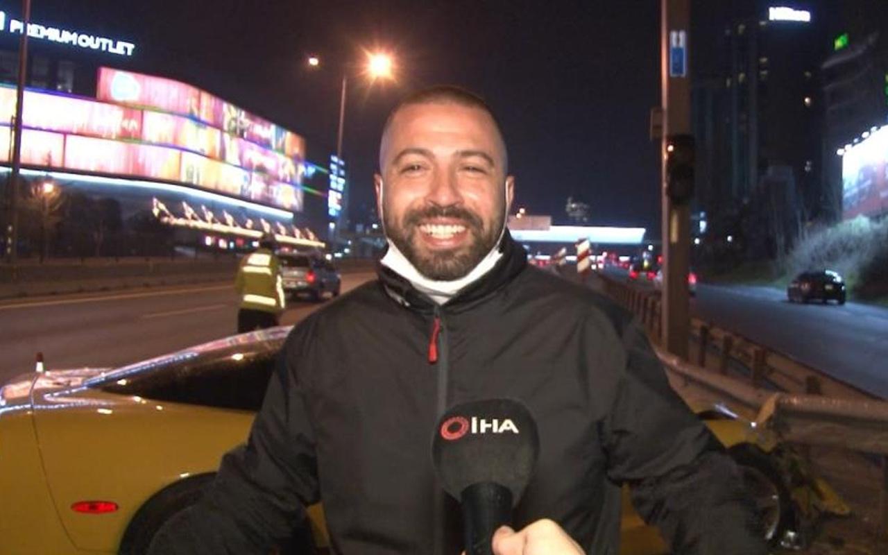 Kadıköy'de milyonluk aracı bariyerlere vurdu 'her an haberlerdeyiz' dedi