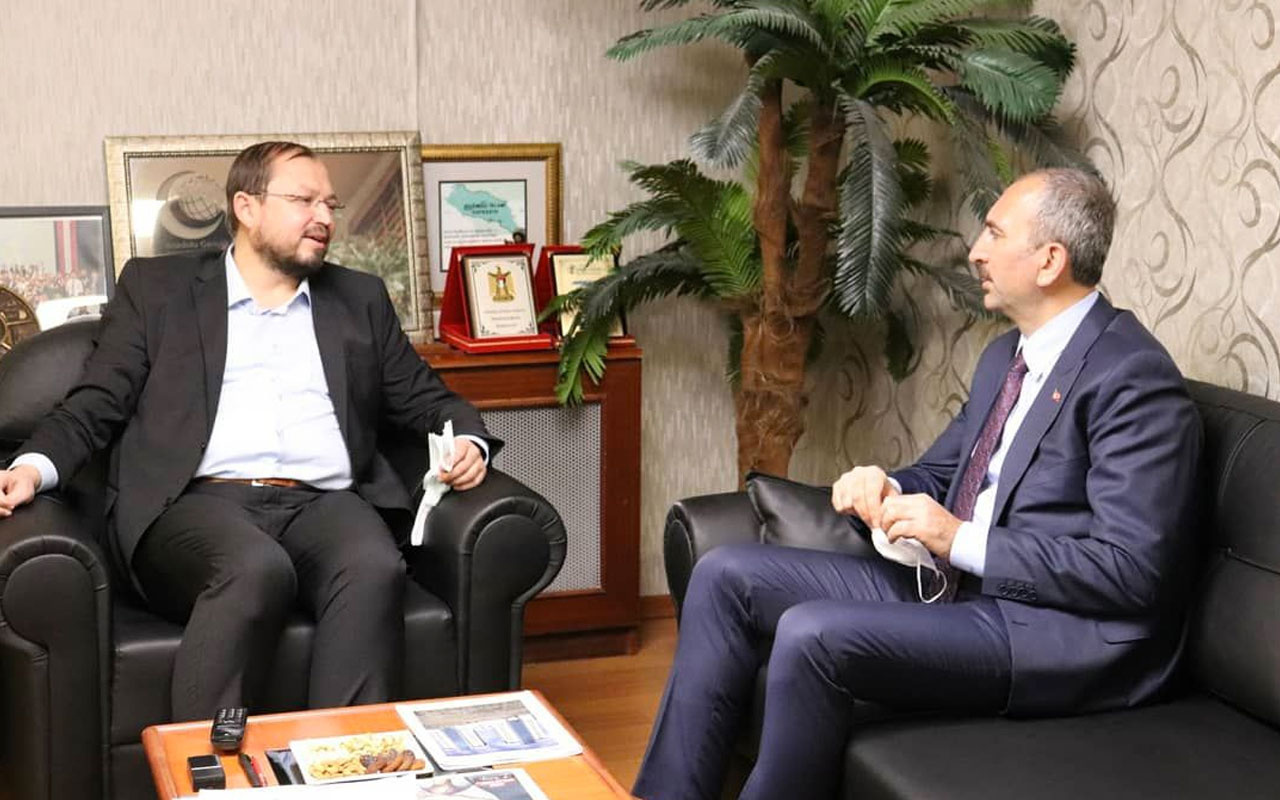 Adalet Bakanı Abdülhamit Gül AGD'yi ziyaret etti