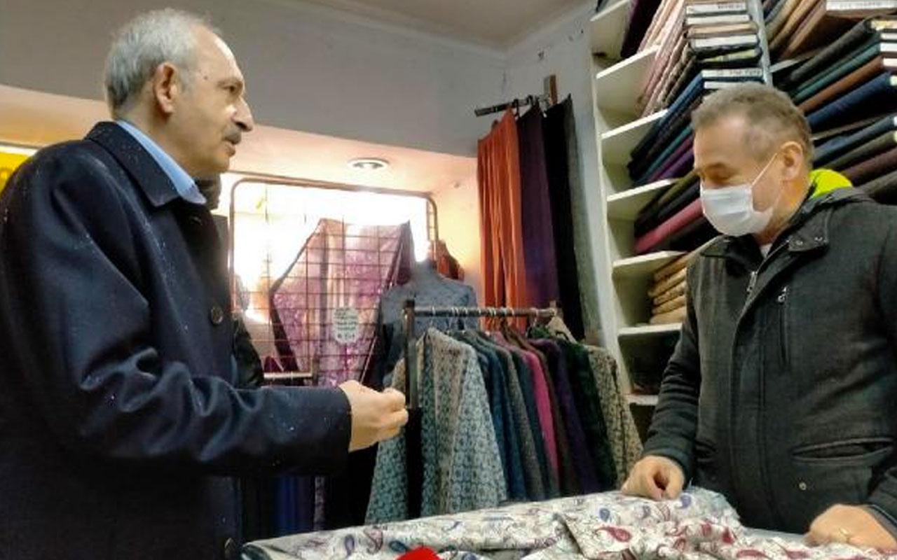 CHP Lideri Kemal Kılıçdaroğlu Uşak'ın Sivaslı ilçesinde esnafı ziyaret etti